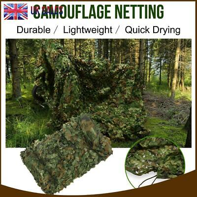 4mX6m Army Camouflage Net Camo Camping Shooting Hunting Hide Woodland Outdoor UK