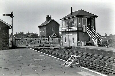 Larger size b&w negative Snaith signalbox in 1950s. Sold with copyright