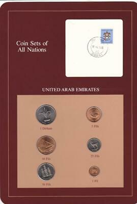 UAE United Arab Emirates Coin Sets of All Nations UNC w/ Stamp