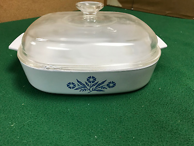 "Vintage 10"" Corning Ware Microwavable Browning Dish with Glass Lid– MW-A-10"