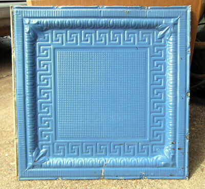SALE Victorian Art Deco Ceiling Tin Tile Geometric Aztec Cottage Chic Fleur De L