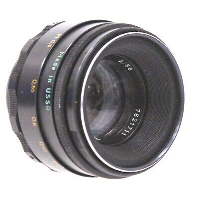 HELIOS -44-2 58mm f/2 M42 Mount Camera Lens  - S42