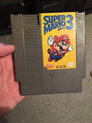 Super Mario 3 Nintendo NES Video Game Tested Working