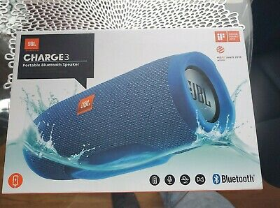 JBL Charge 3 Portable Wireless Bluetooth Speaker - Blue