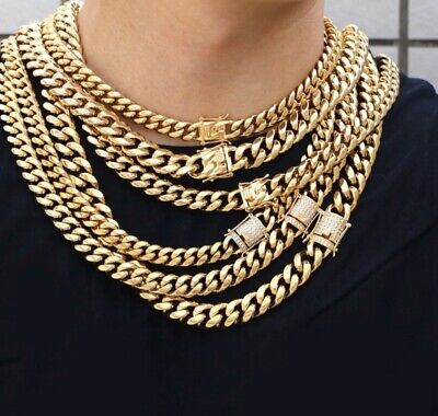 """14K GOLD PLATED ROPE CHAIN NECKLACE 24/""""x 8mm 84g//GP5"""