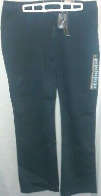 Nwt* Lee ~ Black Relaxed Fit Straight Leg Mid Rise Pants ~ 14 Short