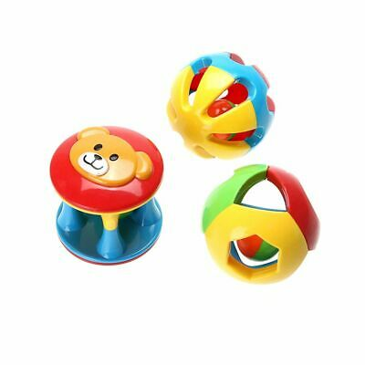 Kids Early Educational Lovely Baby Rattles Toy Plastic Ball Hand Bell Cartoon