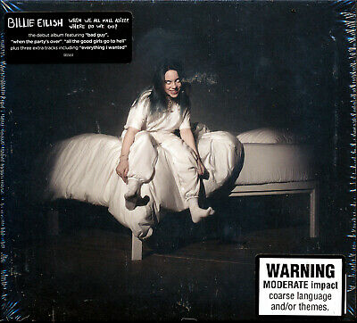 Billie Eilish When We All Fall Asleep Where Do We Go? CD NEW 17 tracks