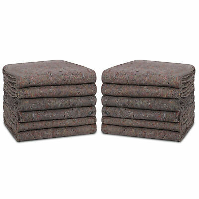 12 Moving Blankets Heavy Duty Shipping Furniture Equipment Protection Pads