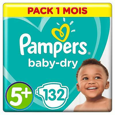 Couches Pampers Taille 5+ (12-17 kg) - Baby Dry couches, 132