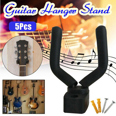 5Pcs Guitar Hanger Adjustable Wall Mount Display Bracket Hook Holder Bass