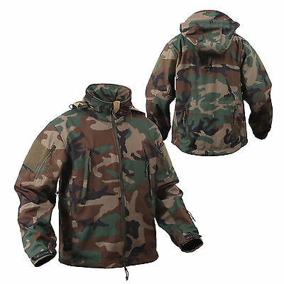 Rothco US SPECIAL Spec OPS Army Tactical Polaire Softshell Veste Noir
