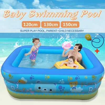 Large 120/130/150cm Swimming Pool Paddling Garden Outdoor Summer Inflatable Kids