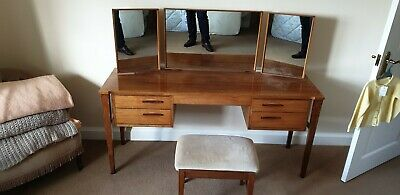 Alfred Cox Teak Dressing Table - Tall Drawers - Bed Side Units Mid Century