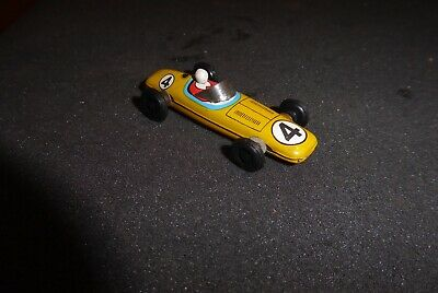 TN Nomura Pennytoy vintage Blech mint yellow Racing Car 60ies pristine Top