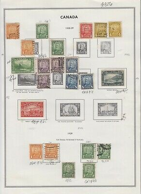 Canada Album Page Collection Lot $320+ Specialist Scroll All Appear To Be Sound