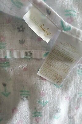 Ideal Baby Aden Anais Baby Girl Blanket Pink Tulip Lovey Swaddle Gray Flowers