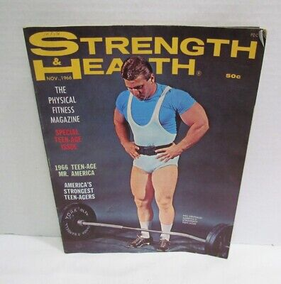 STRENGTH & HEALTH PHYSICAL FITNESS MAGAZINE NOV. 1966 ISSUE BODYBUILDING and