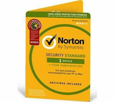 Norton Internet Security 2020 Antivirus 1 Device 1 Year PC/MAC/Android