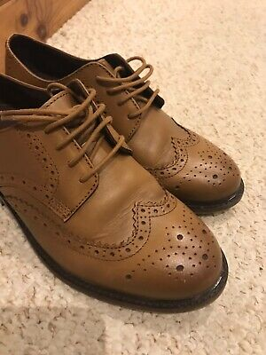 Boys Tan Brogues Shoes From Next Size 4, Worn Once