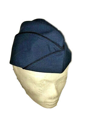 New US Air Force Woman/'s Blue Garrison Cap 21 Class 4-Enlisted 8410-01-213-4785