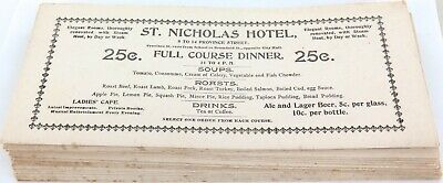 .RARE LOT c1900 St NICHOLAS HOTEL, BOSTON 19 LARGE NEAR MINT ADVERTISING CARDS