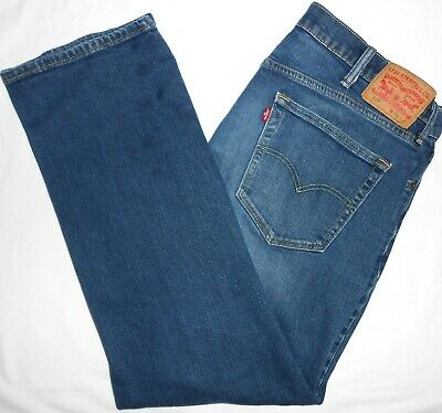 38x32 Levi Strauss STRETCH 559 Relaxed Straight Blue Jeans Flex Denim Red Tab