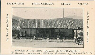 c1920s Oaken Bucket Chicken Inn, CA Foothill Blvd. Pasadena & Monrovia Adv. Card