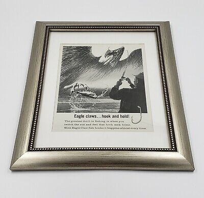 Vintage 1964 EAGLE CLAW Fishing Field and Stream Magazine Advertising Framed