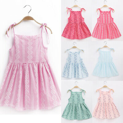 Cute Baby Kids Girls Dress Toddler Princess Party Tutu Summer Floral Dress