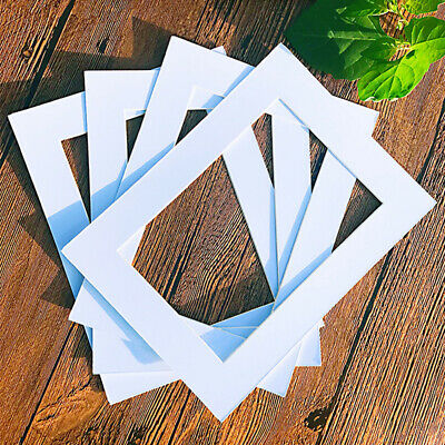 5*Photo Frame Mounts Bevel Cut Mount for Picture Frame Inserts Paperboard Square