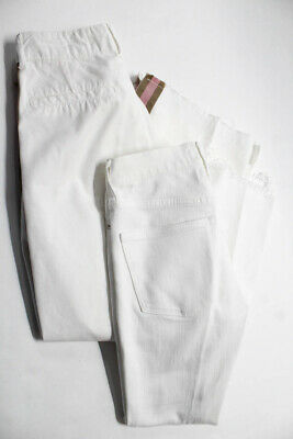 Madewell Zara Basic Womens Boot Cut Jeans White Cotton Size 24 02 Lot of 2