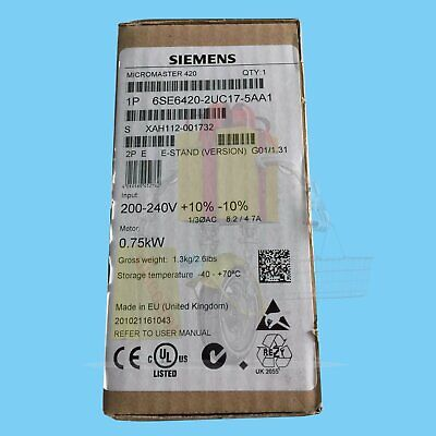 1PC Siemens New converter 6SE6420-2UC17-5AA1 0.75KW / 220V free shipping