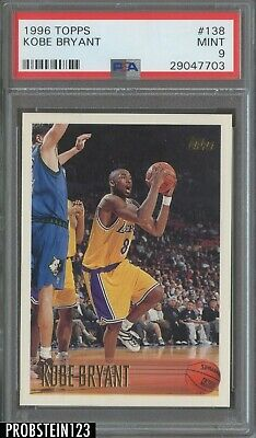 1996-97 Topps #138 Kobe Bryant Los Angeles Lakers RC Rookie PSA 9 MINT
