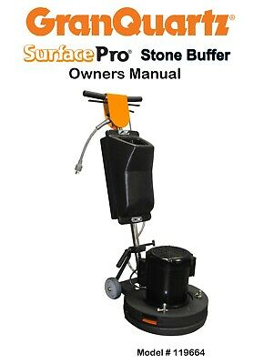 """Surface Pro Gold Stone Buffer 17"""" Severe Duty 1.5Hp …. Excellent Condition"""