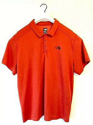 Mens The North Face Red Polo Shirt 2XL/XXL Flash Dry - Running/fitness Polo