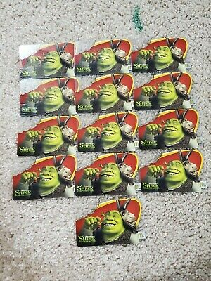 34 McDonald's Unused Gift Cards Collectible Shrek Pirates of the Caribbean