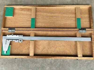"""Mitutoyo 0 to 18"""" Stainless Steel Vernier Caliper with Case!!"""