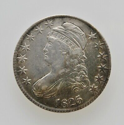 1825 U.S. Capped Bust Half Dollar 50 Cent Very Fine Toned Type Coin