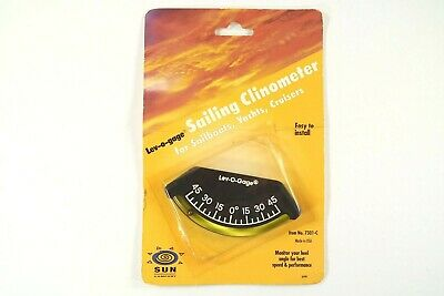 Sun Company Lev-O-Gage - Sailing Clinometer New In Package 7301-C Heel Monitor