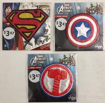 style #3 Superman Fabric Iron On Appliques