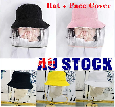 Kids Double Prevent Protection Hat and Face Cover Anti Sunlight Windproof Cap AU