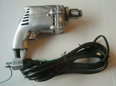 """NOS Mall Corded Drill 1/4"""" Model 143-T with Original Metal Case (inv12)"""