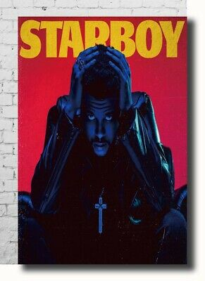 Hot Fabric Poster The Weeknd 2017 World Tour Starboy Music 36x24 30x20 Z2157