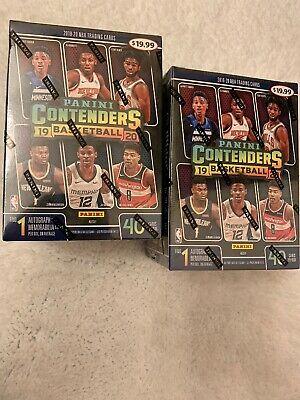 Lot Of 2;19-20 Panini Contenders NBA Basketball Cards Blaster Box Factory Sealed