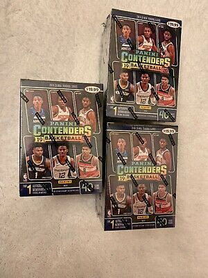 Lot Of 3;19-20 Panini Contenders NBA Basketball Cards Blaster Box Factory Sealed