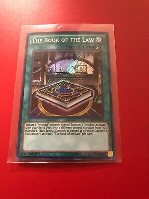 YUGIOH The book of the Law FUEN-EN036 1st Secret x1