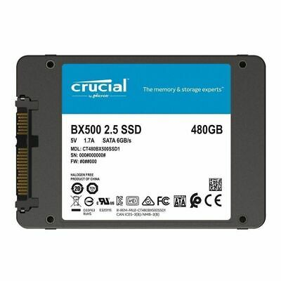 """Crucial BX500 480GB 2.5"""" SSD SATA Internal Solid State Drive 540Mbs 3Ys Wty New"""