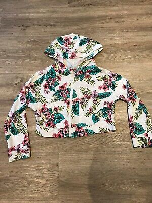 Girls River Island Cropped Hoodie Age 7-8 Years