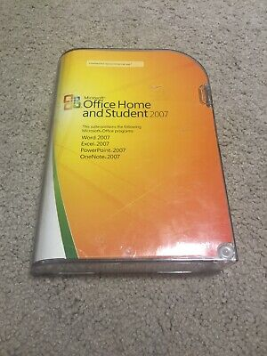 Microsoft Office 2007 Home and Student Edition PC Windows Word Excel Powerpoint